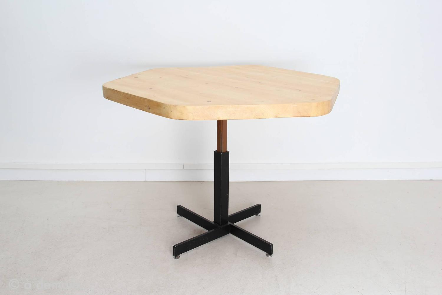 charlotte perriand hexagonal dining table from the 1960s at 1stdibs. Black Bedroom Furniture Sets. Home Design Ideas