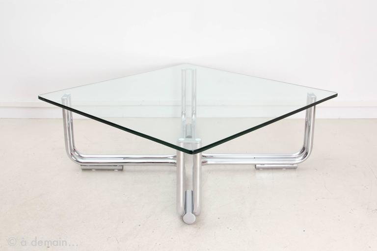 gianfranco frattini coffee table model 784 edited cassina from the 1960s at 1stdibs. Black Bedroom Furniture Sets. Home Design Ideas