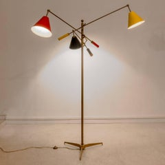 Triennal Floor Lamp by Angelo Lelli