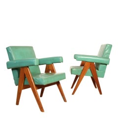 Set of Two Committee Chair by Pierre Jeanneret, Chandigarh, circa 1953
