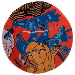 """Carpet by Corneille """"Les Oiseaux Bleus"""""""