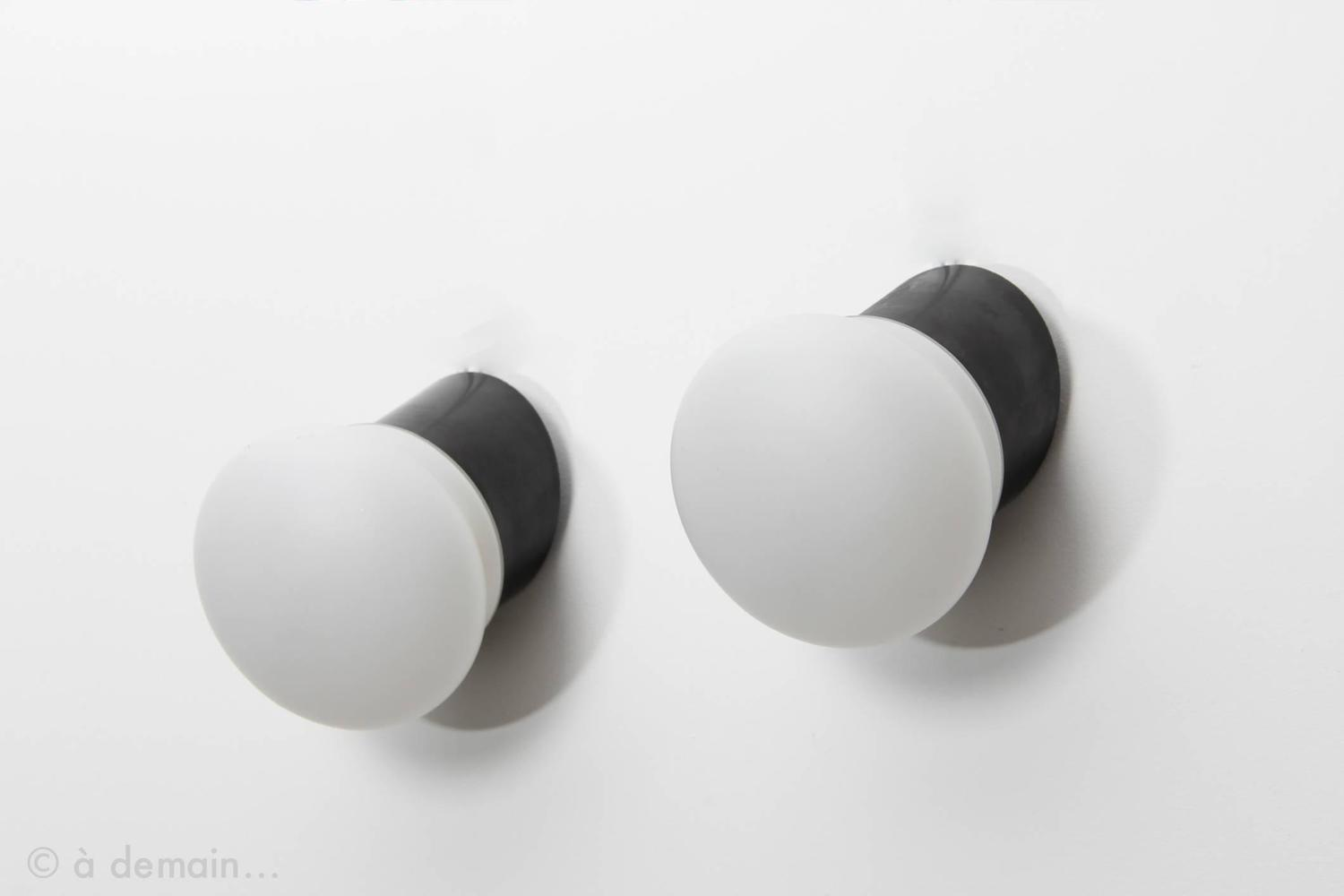 pair of sconces by charlotte perriand from the 1960s for. Black Bedroom Furniture Sets. Home Design Ideas