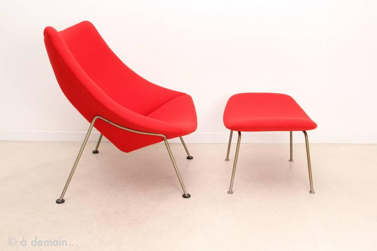 Oyster Lounge Chair With Ottoman By Pierre Paulin Edited