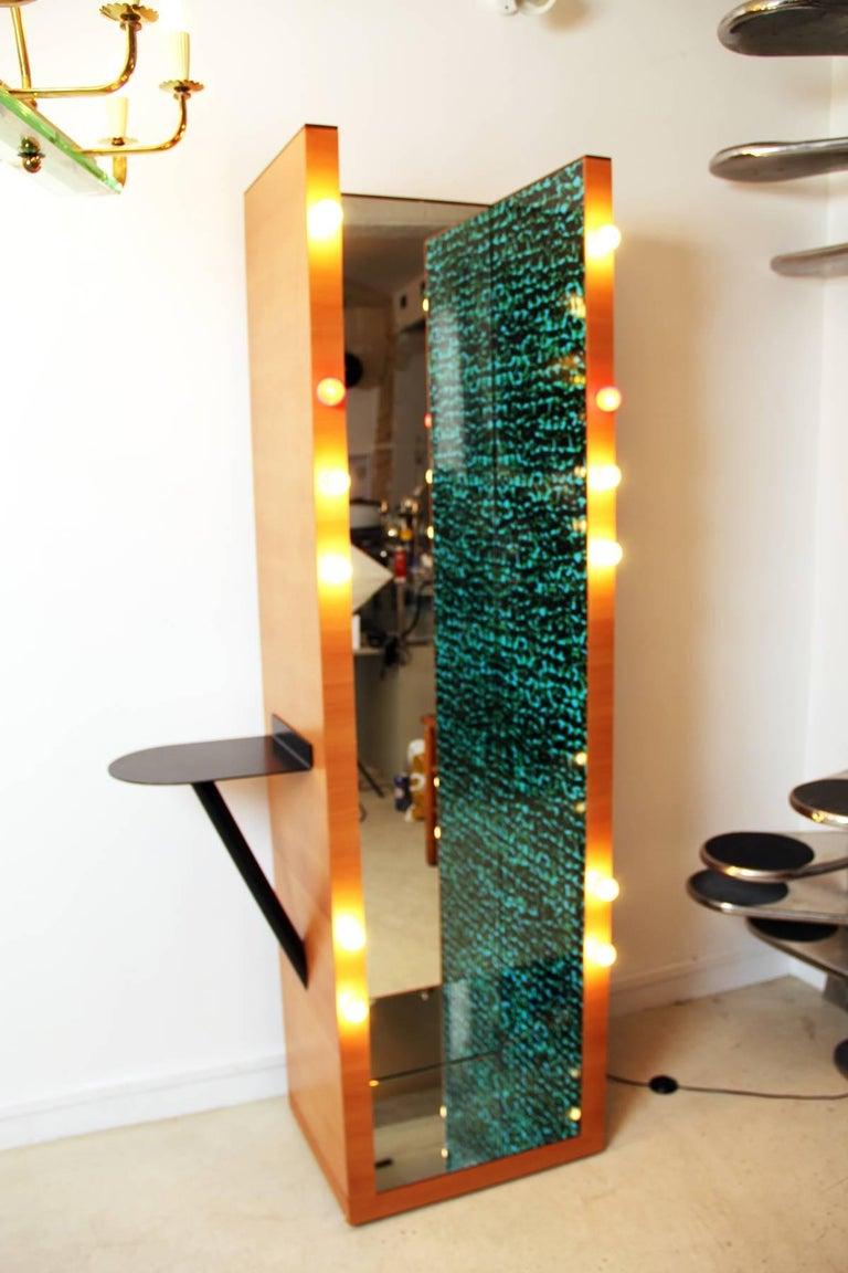 Mid-Century Modern Ettore Sottsass Tall Mirror For Sale