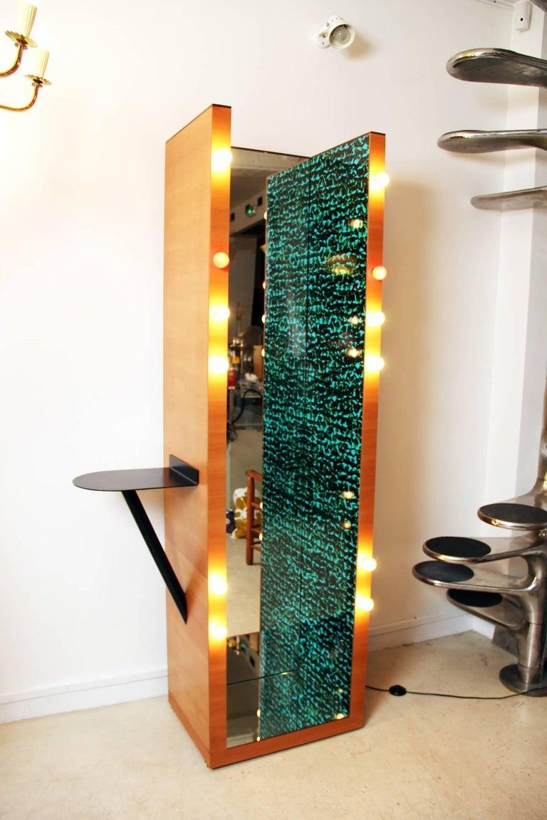Italian Ettore Sottsass Tall Mirror For Sale