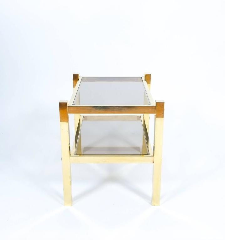 Pair of Brass End Tables, circa 1960 In Excellent Condition For Sale In Vienna, AT
