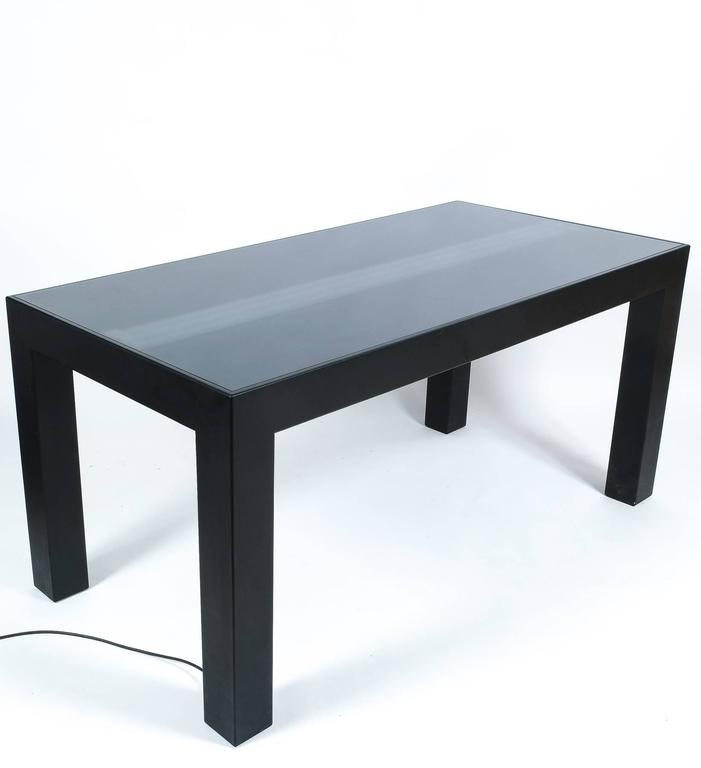Glass Illuminated Dining Table by Johanna Grawunder for Post-Design For Sale