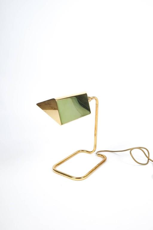 Gorgeous Brass Table Lamp by Koch Lowy, Germany 8
