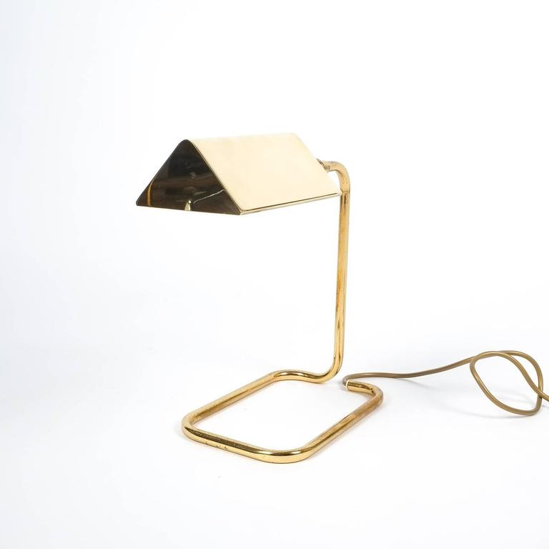 Gorgeous Brass Table Lamp by Koch Lowy, Germany For Sale 1