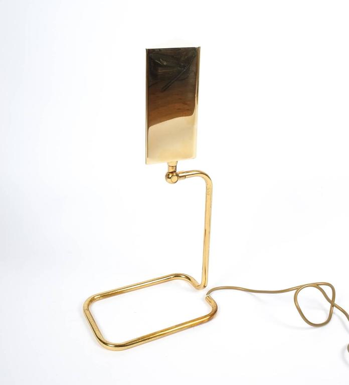 Polished Gorgeous Brass Table Lamp by Koch Lowy, Germany For Sale