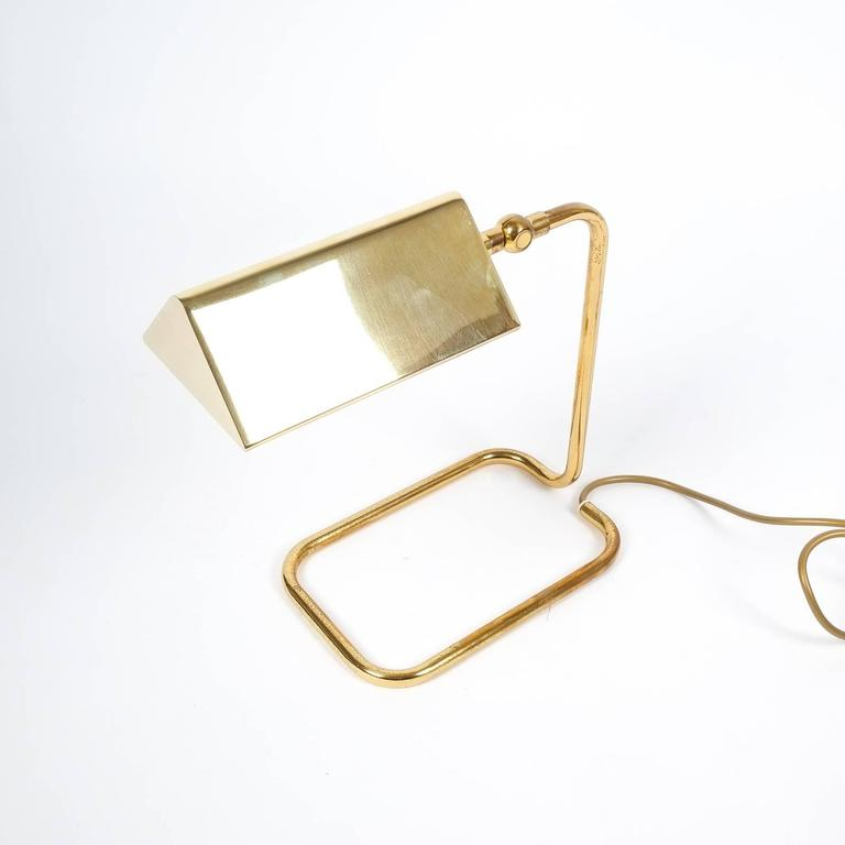 Gorgeous Brass Table Lamp by Koch Lowy, Germany 5