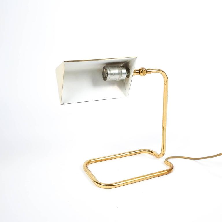 Mid-20th Century Gorgeous Brass Table Lamp by Koch Lowy, Germany For Sale