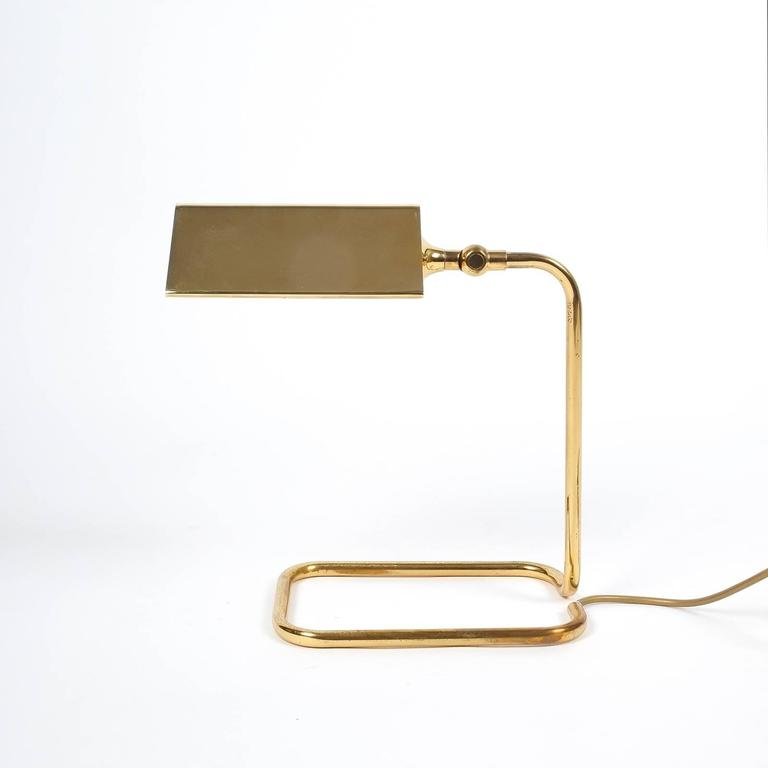 Gorgeous Brass Table Lamp by Koch Lowy, Germany 3
