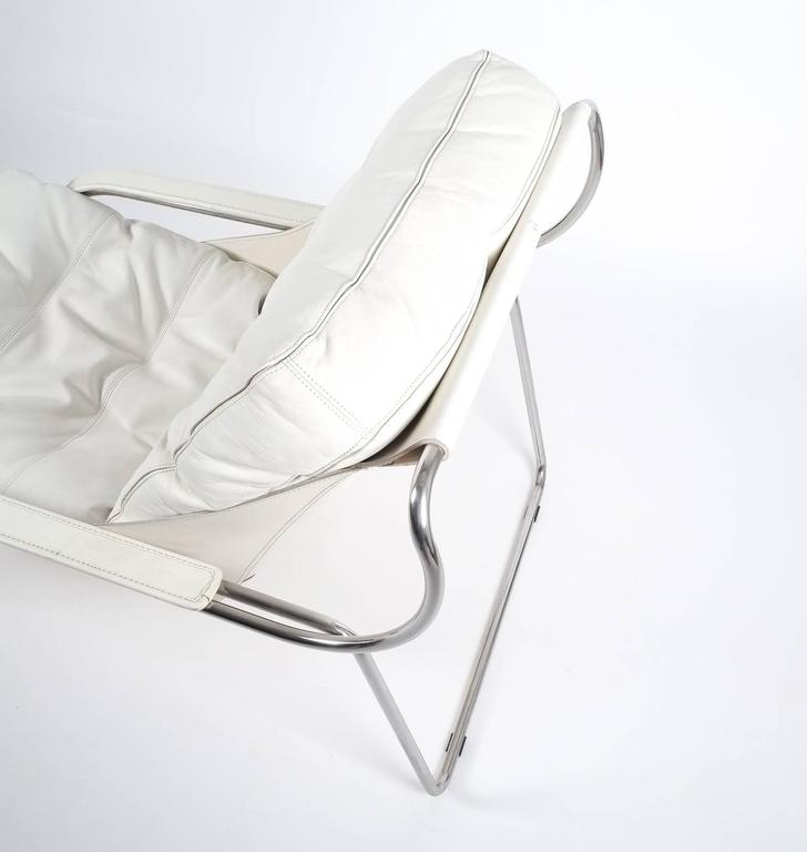 Marco Zanuso Maggiolina White Leather Chair by Zanotta, 1947 In Good Condition For Sale In Vienna, AT