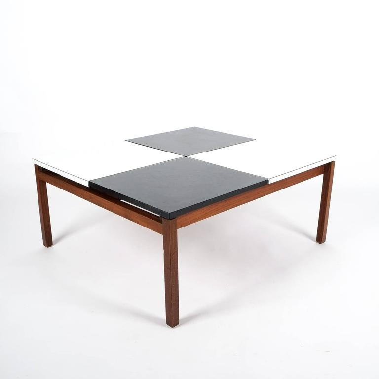 lewis butler black and white coffee table, knoll, 1960 for sale at