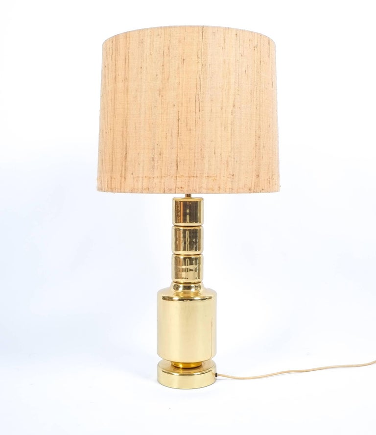 Sculptural Polished Brass Table Lamp Germany 1970 For Sale At 1stdibs
