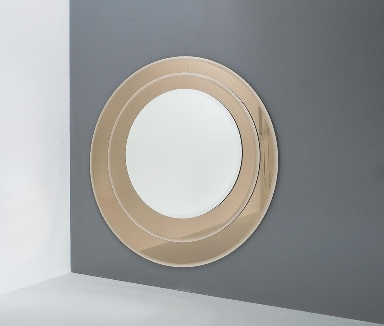 Late 20th Century Layered Midcentury Rimadesio Mirror, Italy, 1970 For Sale