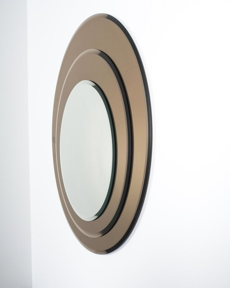 Mid-Century Modern Layered Midcentury Rimadesio Mirror, Italy, 1970 For Sale
