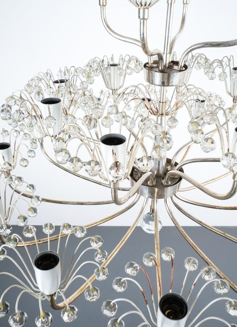 Set of Three Emil Stejnar Chandeliers Silver Glass, Austria For Sale 5