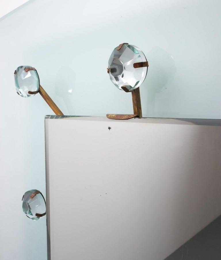 Illuminated Fontana Arte Mirror by Max Ingrand, Italy, circa 1960 For Sale 2