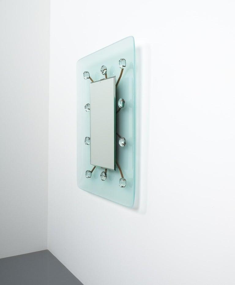 Mid-20th Century Illuminated Fontana Arte Mirror by Max Ingrand, Italy, circa 1960 For Sale