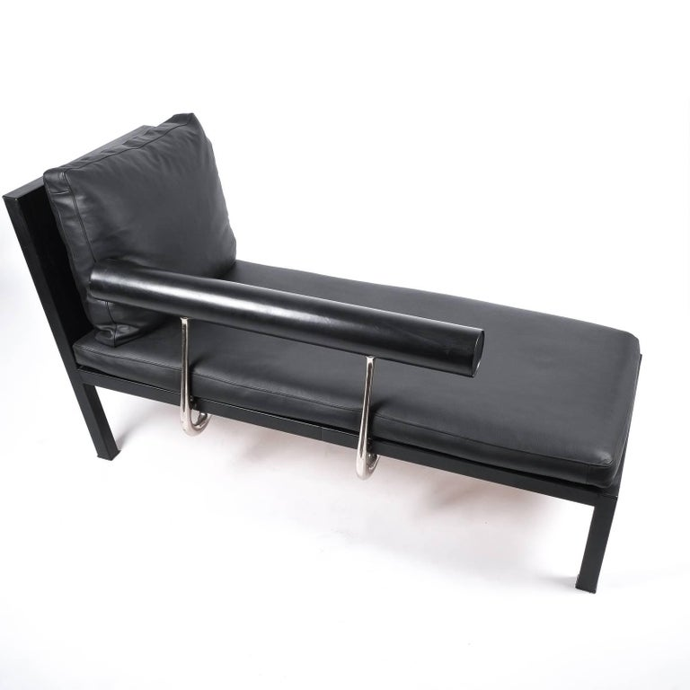 Leather Chaise Lounge Or Sofa Baisity by Antonio Citterio for B&B Italy For Sale 8