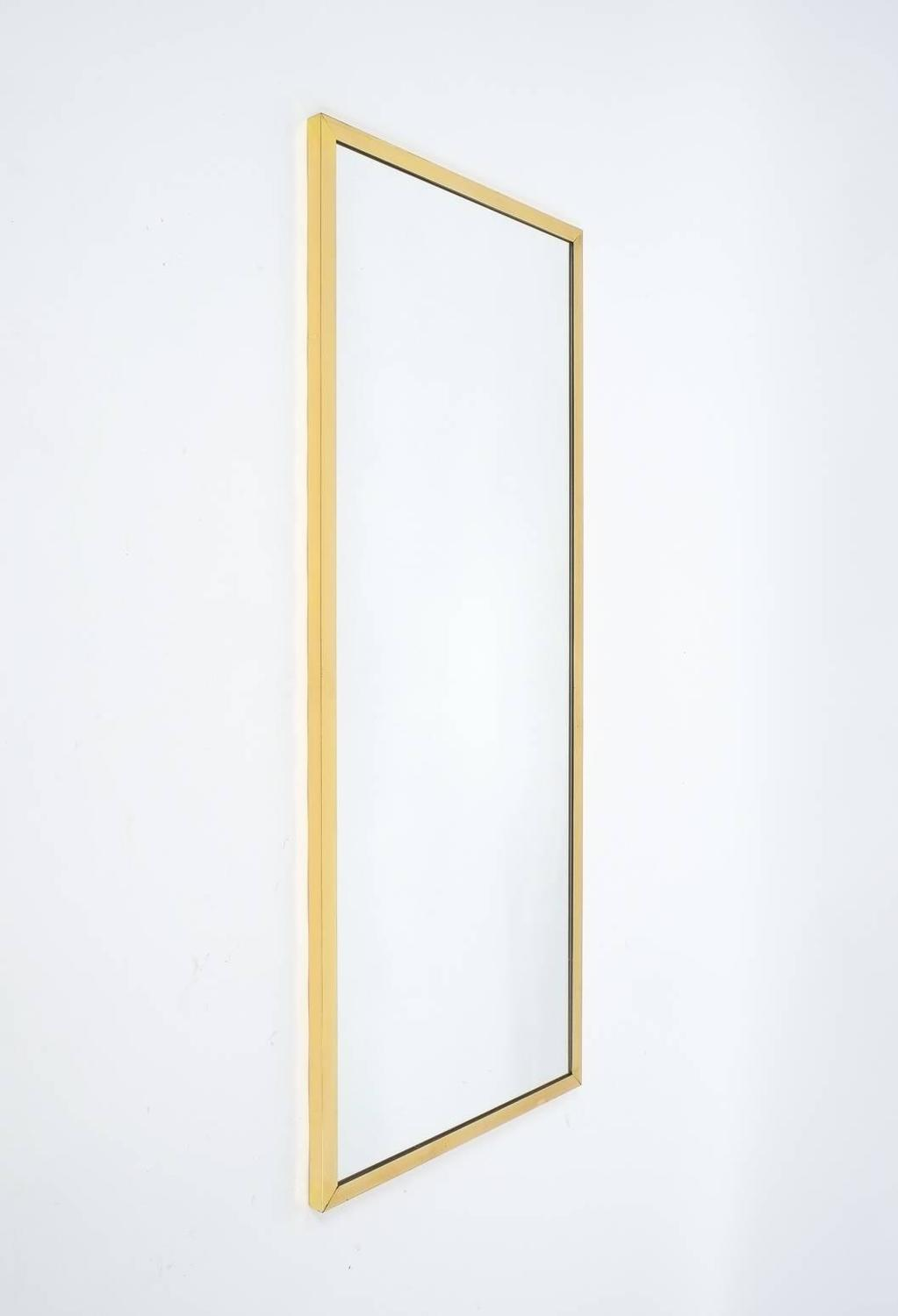 Elegant and large rectangular austrian brass frame mirror for Large white mirrors for sale