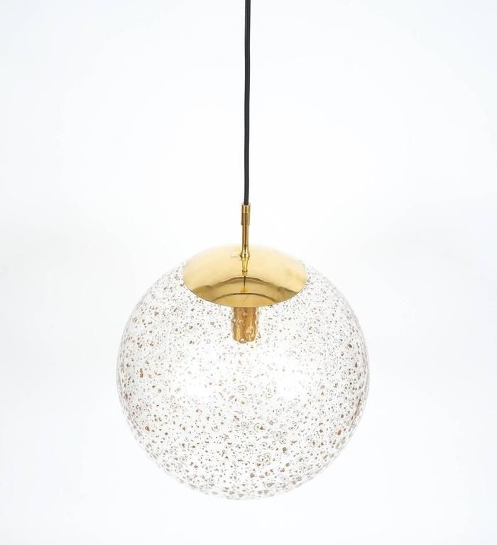 large limburg glass brass ball pendant lamp  1960 for sale at 1stdibs