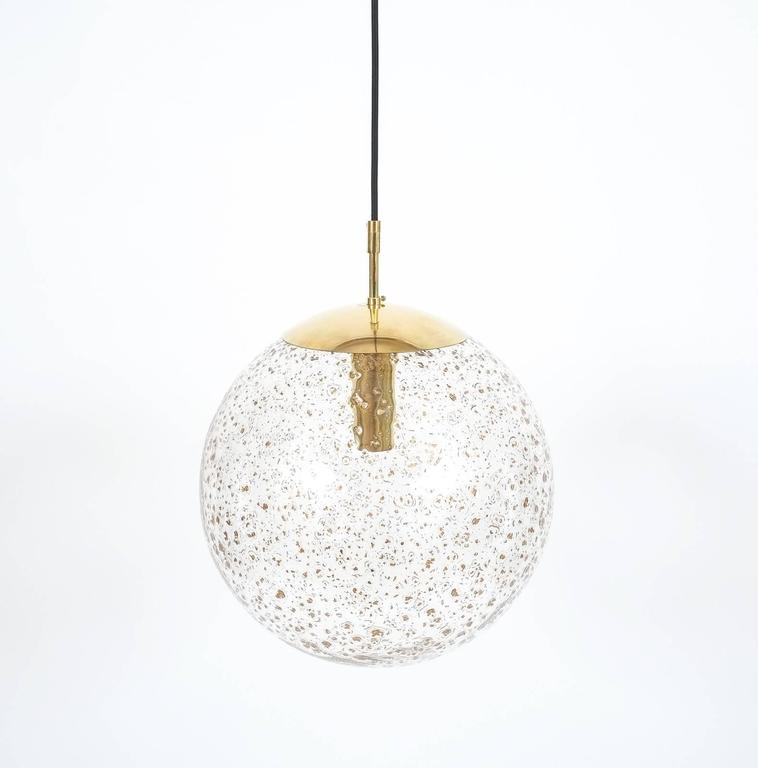 large limburg glass ball pendant at 1stdibs