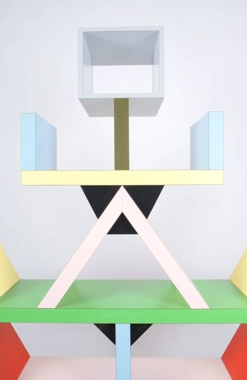 Post-Modern Carlton Bookcase Roomdivider by Ettore Sottsass for Memphis, 1981 For Sale