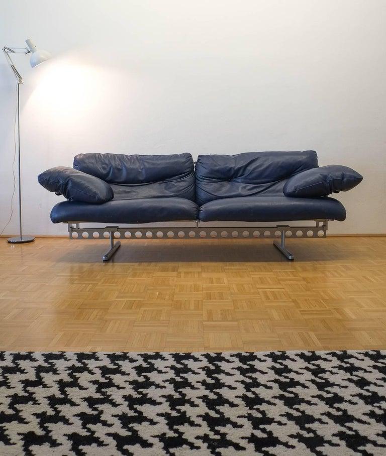 Italian Sofa Brent Cross: Pierluigi Cerri Ouverture Leather Sofa For Poltrona Frau