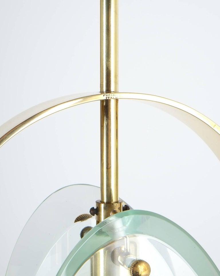 max ingrand brass glass pendant lamp light model 1933 for fontana arte 1961 for sale at 1stdibs. Black Bedroom Furniture Sets. Home Design Ideas