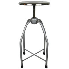 1940s Metal Medical Industrial Stool