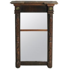 19th Century American Wood Carved Federal Mirror
