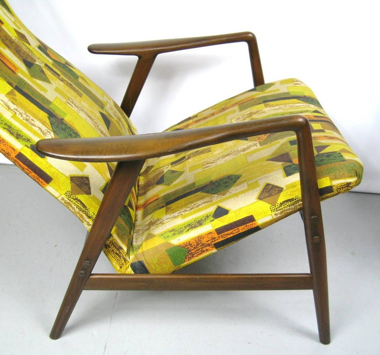 Mid-20th Century Midcentury Folke Ohlsson DUX Recling Chair with Ottoman, Mid-Century Modern For Sale
