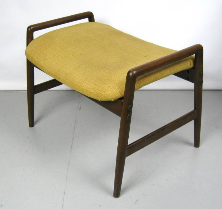 Midcentury Folke Ohlsson DUX Recling Chair with Ottoman, Mid-Century Modern For Sale 3
