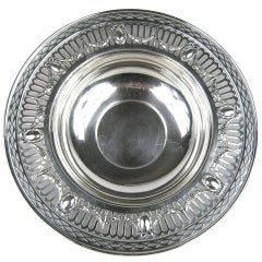 Gorham Sterling Silver Reticulated Footed Bowl Platter