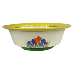 Rare Large Clarice Cliff Bizarre Crocus Bowl, 1930s Sold at Sotheby's Auction