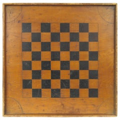 American Folk Art Game Board Chess Checker Board