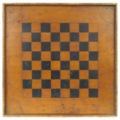 American Folk Art Game Board Chess Checker Board
