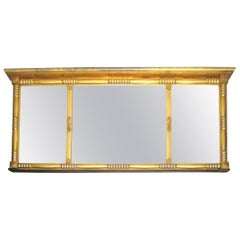 Stunning Neoclassical Gold Leaf Gilt Mirror Three Section