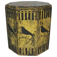 American Primitive Hand-Painted Bird Grain Bin