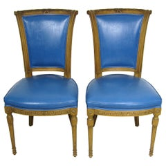 Painted Pair of Italian Louis XVI Neoclassical Chair