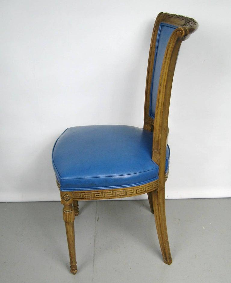 American Painted Pair of Italian Louis XVI Neoclassical Chair For Sale