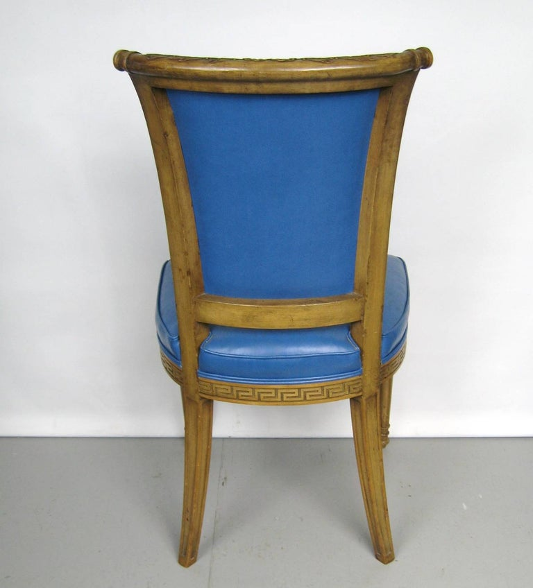 Painted Pair of Italian Louis XVI Neoclassical Chair In Good Condition For Sale In Wallkill, NY