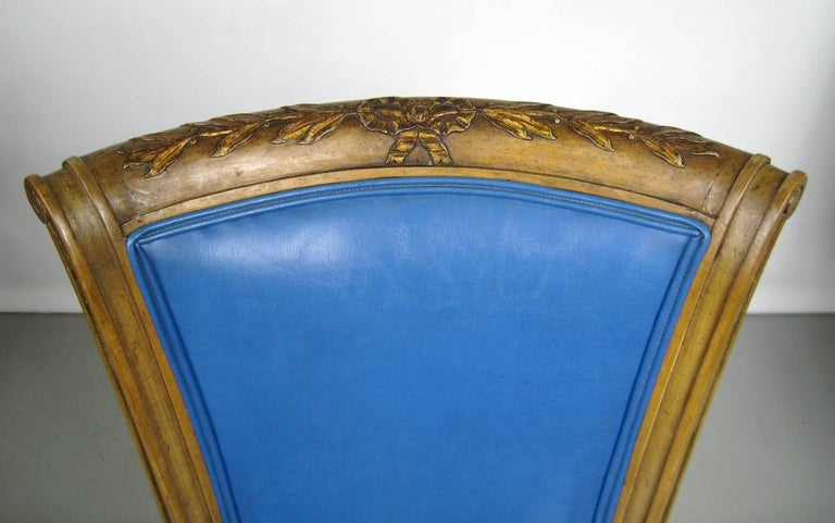 Early 20th Century Painted Pair of Italian Louis XVI Neoclassical Chair For Sale