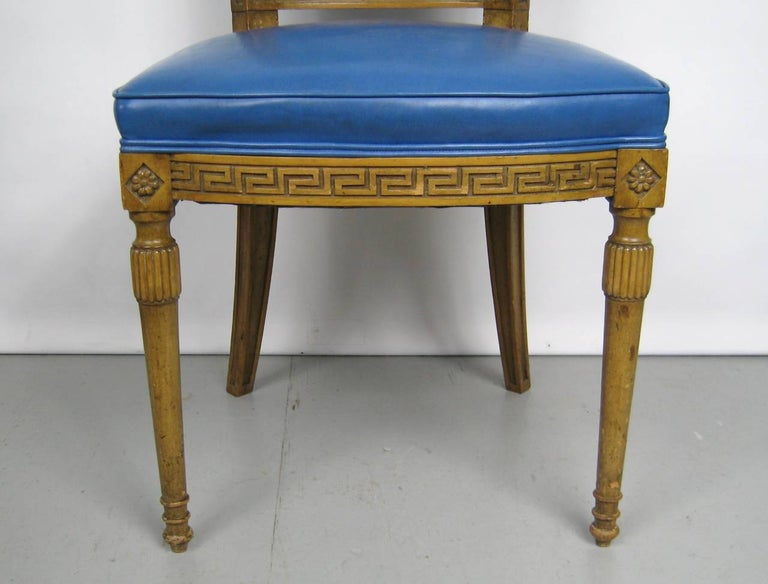 Painted Pair of Italian Louis XVI Neoclassical Chair For Sale 1