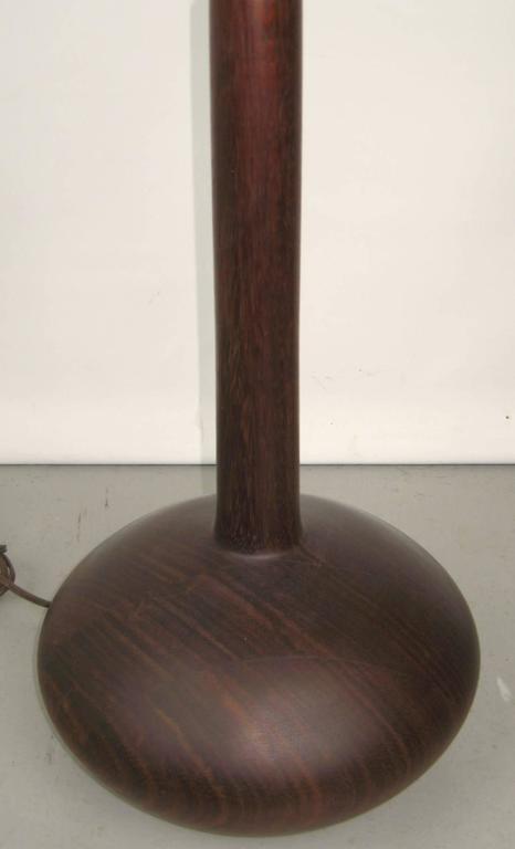 Danish 1950s Mid-Century Modern Teakwood Table Lamp For Sale