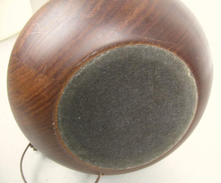 Turned 1950s Mid-Century Modern Teakwood Table Lamp For Sale