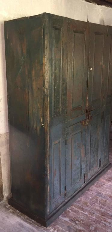 18th Century Blind Door Large Hudson Valley Cupboard With